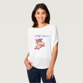 Schnee-weißes Ballett-Leistungs-Shirt T-Shirt