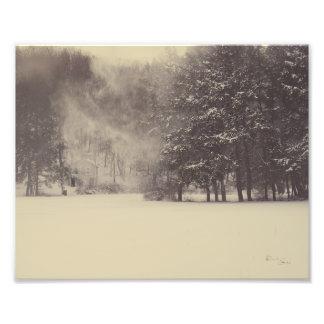 Schnee-Wind Fotodruck