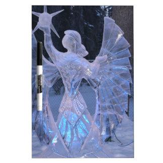 Schnee-Winter-Skulpturengel Christentums-Glaube Memoboard