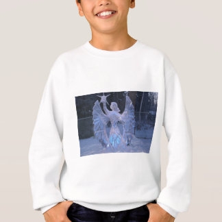 Schnee-Winter-Skulpturengel Christentums-Glaube Sweatshirt