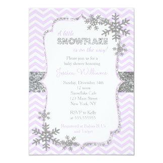 Schneeflocke-Babyparty-Einladungen 12,7 X 17,8 Cm Einladungskarte