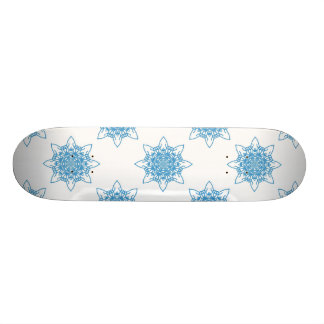 Schneeflocke-Blau Personalisiertes Skateboard
