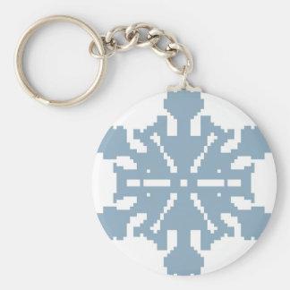 Schneeflocke - Blau Schlüsselanhänger