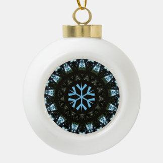 Schneeflocke-blaue Baum-Muster-Entwurfs-Verzierung Keramik Kugel-Ornament