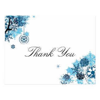 Schneeflocke danken Ihnen Postkarte