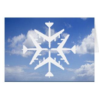 Schneeflocke der Flugzeug-B-52 Grußkarte
