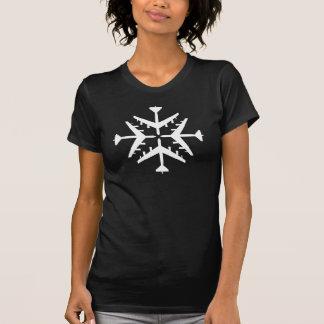 Schneeflocke der Flugzeug-B-52 T-Shirt