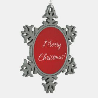 Schneeflocke der frohen Weihnachten Schneeflocken Zinn-Ornament