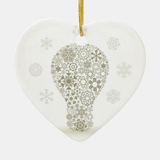 Schneeflocke eine Birne Keramik Herz-Ornament