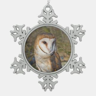 Schneeflocke-Eulen-Verzierung Schneeflocken Zinn-Ornament