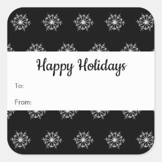 Schneeflocke-Feiertags-Aufkleber etikettiert Quadratischer Aufkleber