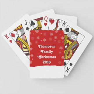 Schneeflocke-Feiertags-Entwurf mit einem roten Spielkarten