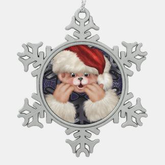 Schneeflocke-gerahmte Verzierung des Schneeflocken Zinn-Ornament