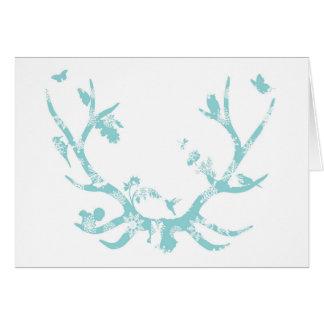 Schneeflocke-Geweih-Weihnachtskarte Karte