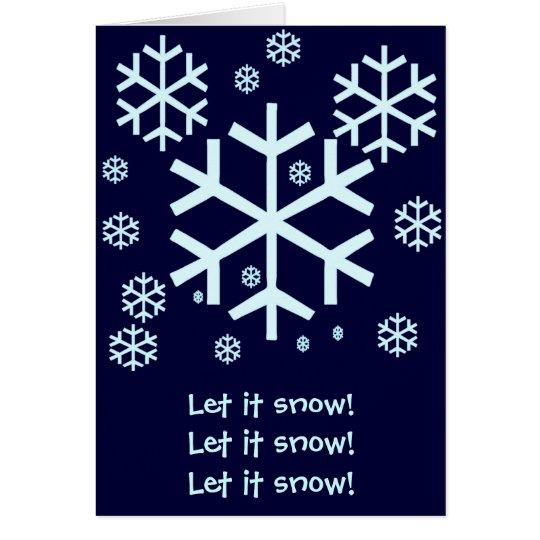 Schneeflocke-Karte Mitteilungskarte