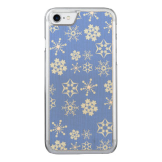 Schneeflocke-Muster Carved iPhone 8/7 Hülle