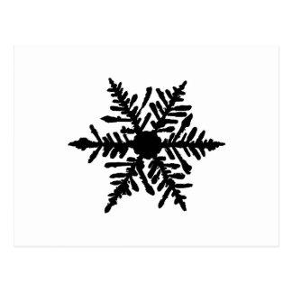 Schneeflocke Postkarte