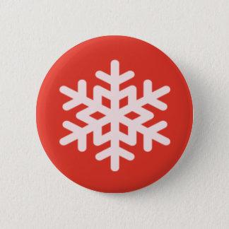 Schneeflocke Runder Button 5,7 Cm