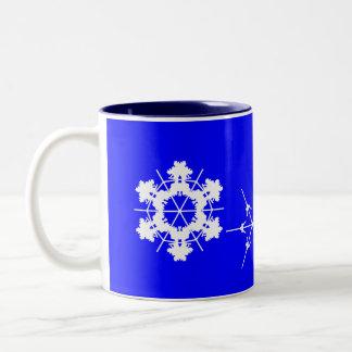 Schneeflocke-Tasse Zweifarbige Tasse
