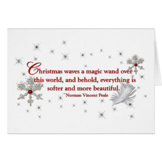Schneeflocke-und Feder-Weihnachtskarte Karte