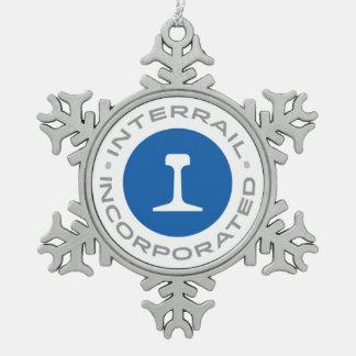 Schneeflocke-Verzierung Interrail, Inc. Schneeflocken Zinn-Ornament