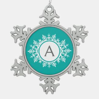 Schneeflocke-Verzierungs-kundenspezifisches Schneeflocken Zinn-Ornament