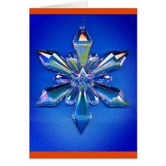 Schneeflocke-Verzierungs-Weihnachtsfeiertags-Blau Mitteilungskarte