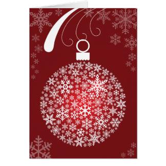 Schneeflocke-Verzierungs-Weihnachtskarte Karte