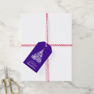 Schneeflocke-Weihnachtsbaumultraviolettes und Geschenkanhänger
