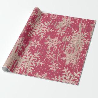 Schneeflocke-Weihnachtsfeiertags-rustikales Einpackpapier