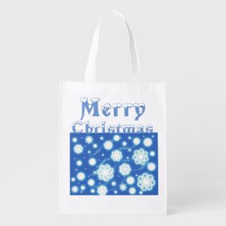 Schneeflocke-Weihnachtsgeschenk-Tasche Wiederverwendbare Einkaufstasche