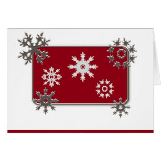Schneeflocke-Weihnachtskarte Karte