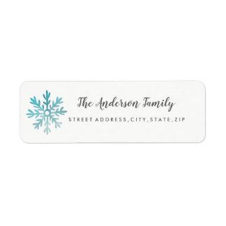 Schneeflocke-WeihnachtsRücksendeadresse-Aufkleber
