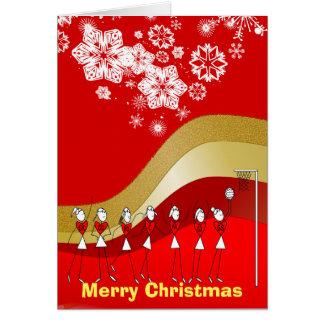 Schneeflocke-Weihnachtsthemenorientierter Netball Karte