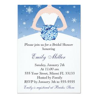 Schneeflocke-Winter-Brautparty-Einladung 12,7 X 17,8 Cm Einladungskarte