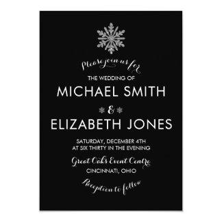 Schneeflocke-Winter-Hochzeits-Einladung Karte