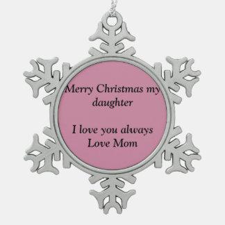 Schneeflocken der frohen Weihnachten Schneeflocken Zinn-Ornament