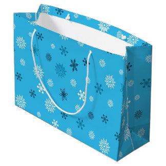 Schneeflocken Große Geschenktüte