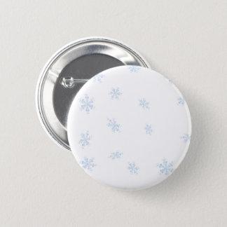 Schneeflocken Runder Button 5,1 Cm