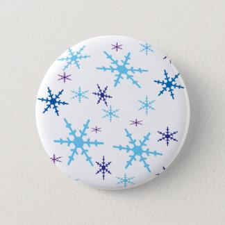 Schneeflocken Runder Button 5,7 Cm
