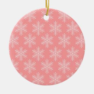 Schneeflocken Rundes Keramik Ornament