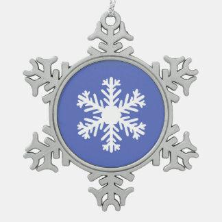 Schneeflocken Schneeflocken Zinn-Ornament