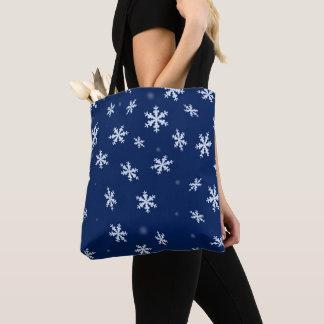 Schneeflocken Tasche