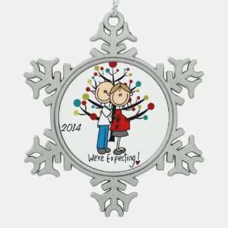 SCHNEEFLOCKEN Zinn-Ornament