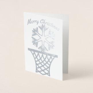 Schneeflockenetball-frohe Weihnachten Folienkarte