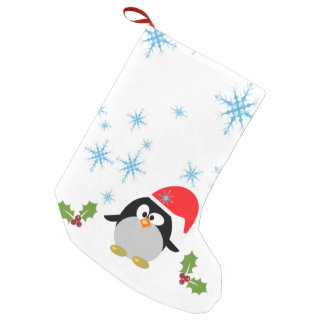 Schneeflockepenguin-kundenspezifischer Kleine Weihnachtsstrümpfe