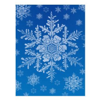 Schneeflockepostkarte Postkarte