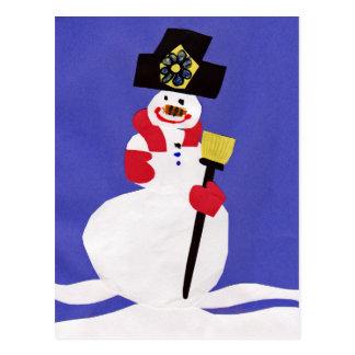 Schneemann durch VictoriaShaylee Postkarte