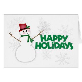 Schneemann frohe Feiertage 2 Karte