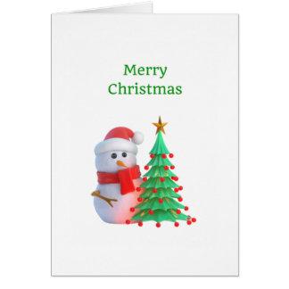 Schneemann-frohe Weihnacht-Gruß-Karte Karte